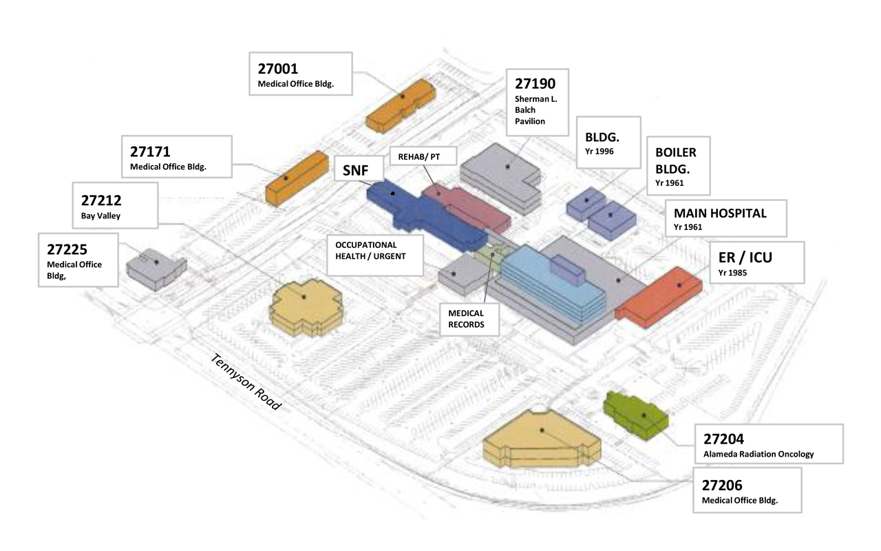 St. Rose Hospital - Campus Map